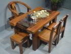 六安市老船木茶桌椅子仿古茶台实木沙发茶几餐桌办公桌家具博古架