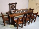 老船木会客茶台原生态实木茶台龙骨茶台茶桌椅客厅茶台小茶桌