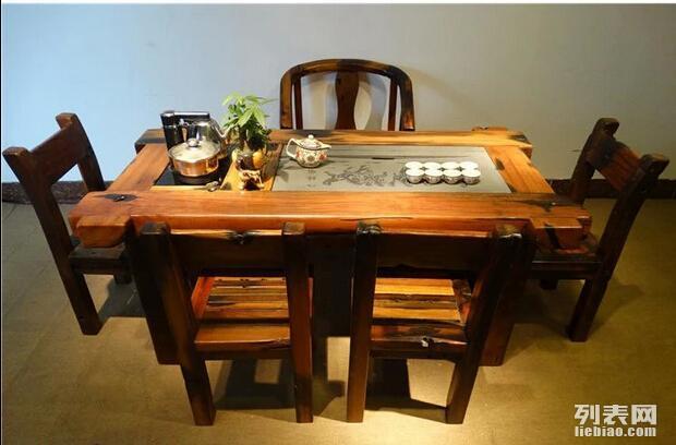 老船木家具茶几古沉老船木茶桌茶台实木茶台客厅原木家具批发