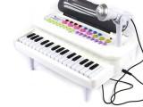 白色款 欧锐欢乐电子琴 多功能界面带话筒音乐旋转 小钢琴玩具