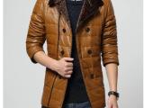 厂家主推跑量款高档水洗皮羽绒服纯色韩版潮流西装领加厚时尚外套