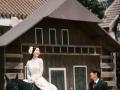 海景婚纱照全程一对一 游艇+马场+水晶教堂+韩式
