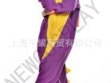 爱情公寓春秋冬卡通动物连体睡衣家居服男女卡通动物扮演服装紫龙