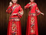 新款秀禾服古装演出旗袍影楼拍照秀禾套装红色新娘服装