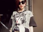2014夏季新款时尚欧美站品牌爆版女装纯棉短袖T恤地摊货源批发