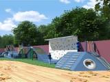 厂家直销儿童游乐设备 木质拓展训练 户外不锈钢滑梯