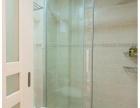 工厂定制钢化玻璃门玫瑰金黑钛金不锈钢包边有框玻璃门