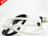 新款iPhone5/6数据线 双色小面条充电线 苹果数据线 us
