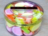 泰国【圆型盒装软糖320克】 进口水果味喜糖果休闲零食品 批发