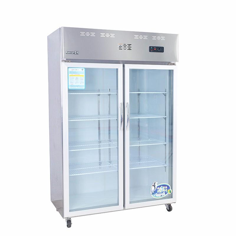 雪村商用卧式小型冰柜蔬菜水果麻辣烫冷藏展示柜保鲜留样柜点菜柜