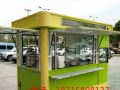 厂家直销手推餐车快餐车电动餐车流动早餐车多功能小吃车巴士餐车