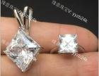 艺钻珠宝批量镶嵌加工18K金托帕石彩宝石翡翠碧订做空托吊坠