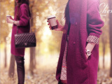 秋冬新款韩版女装宽松大码呢子大衣中长款暗扣羊毛呢外套一件代发