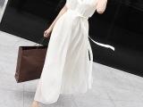 2015春季韩版雪纺连衣长裙 波西米亚无袖拖地大摆裙一件代发