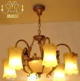 直销云石灯,别墅客厅云石吊灯,全铜云石灯