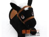 厂家直销现货加厚PVC充气绒布黑色跳跳马 游乐场玩具