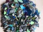 供应PE破碎料再生塑料  蓝瓶