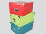 厂家直销 供应8纽扣五金电镀不锈提手收纳盒 支持定制.