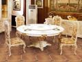 小蜗置家美式乡村八角餐桌椅复古饭桌餐桌