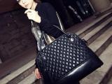 2013新款冬季时尚女包欧美范大牌复古包手提大包包潮女菱格大包包