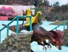 金源奇广场恐龙电瓶车户外儿童游乐设备毛绒动物电车