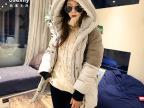 批发加工 2014 新款 正品 韩国女款军工装 中长款羽绒服 Y8008