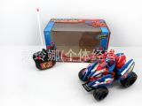 动漫遥控车 带音乐灯光蜘蛛人遥控车 宝宝益智玩具车