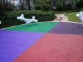 篮球场硅pu塑胶跑道人造草坪厂家
