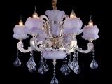 豪华欧式水晶灯客灯卧室水晶吊灯水晶客厅蜡烛灯白炽灯q