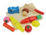 木制蔬菜切切看 儿童益智早教智力 宝宝仿真过家家木质玩具批发