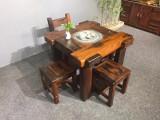 厂家直销船木功夫茶台小茶几仿古实木茶桌椅组合