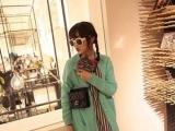 2014秋季日韩街头风 时尚纯色 袖口纽扣 宽松大码 开衫毛衣1
