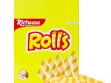 印尼进口 丽芝士Richeese 芝心棒奶酪夹心卷 180g