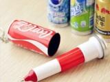 F056 新款创意文具 王老吉 可乐饮料伸缩圆珠笔 易拉罐笔
