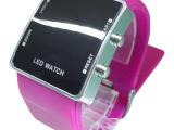 韩版led硅胶品牌手表粉色系休闲女式电子表厂家定制批发超低价