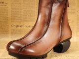 2014本厂手工原创真皮女靴 民族风格流苏靴个性复古靴子牛皮靴子