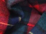 粗纺格子毛呢面料 高档外套面料