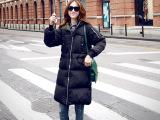 2015新款冬季女式羽绒棉服中长款韩版修身棉衣女士外套批发
