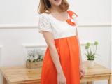 新款孕妇装韩版孕妇连衣裙蕾丝拼接蝴蝶结可哺乳 优质量多