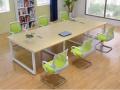 重庆板式会议桌简约现代时尚洽谈桌条形桌现代办公桌椅批发