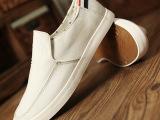 新款夏季男鞋休闲男帆布鞋韩版潮流懒人鞋一脚蹬透气男板鞋批发