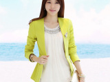 秋季新款小西装女 韩版修身外套OL潮时尚显瘦 一粒扣长袖西服