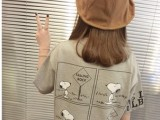 2014夏季新款t恤 韩版时尚宽松学院风可爱史卢比女士潮流t恤