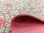 纯色粉色立体烧花 植物针织面料线条太空层