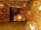 铭星灯饰厂家批发不绣钢多面球钻石简约吊灯饰吧台餐厅酒吧吊灯