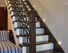 橡木铁艺组装楼梯 美式家用定制楼梯 上海楼梯厂家制作安装