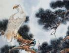 松鹰图 中国小写意花鸟画,如假包退。