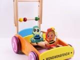 高品质 木制学步车手推车1-3岁儿童多功能木质宝宝助步车玩具