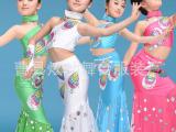 新款成人儿童 多色孔雀表演服傣族舞蹈服 女 葫芦丝现代舞台服