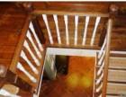 别墅家庭楼梯定制工厂 上海实木楼梯制作 回字形实木楼梯